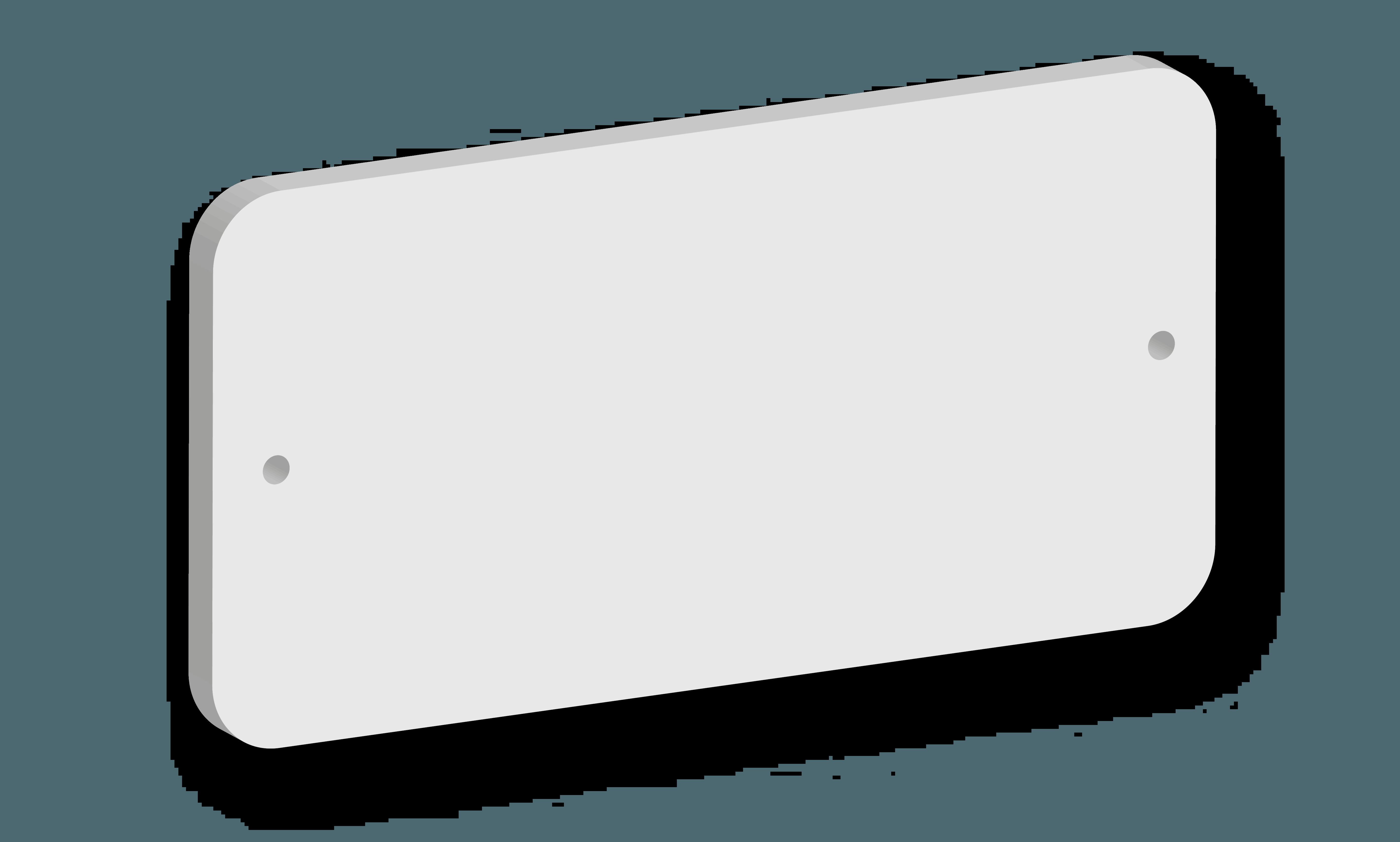Targa in acrilico Modello A B&B systems